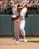 Rickey Henderson Oakland Athletics - Running Autographed Photo (Hand Signed Collectable) Photo