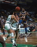 Magic Johnson Los Angeles Lakers vs. Boston Celtics Autographed Photo (Hand Signed Collectable) Photo