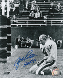 Y.A. Tittle New York Giants with HOF 71 Inscription Fotografa