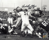 Dick Butkus Chicago Bears - Packer Pile Up with HOF Inscription Photo