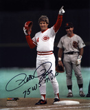 Pete Rose Cincinnati Reds with 1975 World Series MVP Inscription Photo