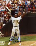 Rickey Henderson Oakland Athletics Record Breaker Autographed Photo (Hand Signed Collectable) Photo