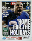 Brandon Jacobs Daily News &quot;Home for the Holidays&quot; Cover Re-Print Photo