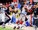 Mario Manningham Signed Super Bowl XLVI Catch Horizontal Photo