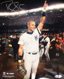 Darryl Strawberry NY Yankees Pinstripe Jersey Hand in Air Vertical Photo Photo