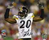 Bryant McFadden Pittsburgh Steelers - Super Bowl XLIII Arms In Air Photo