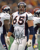 Gary Zimmerman Denver Broncos with HOF 08 Inscription Autographed Photo (Hand Signed Collectable) Photo