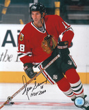Denis Savard Chicago Blackhawks with HOF '00 Inscription Photo