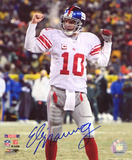 Eli Manning New York Giants - NFC Championship Action Autographed Photo (Hand Signed Collectable) Photo