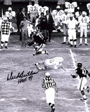 Dick Butkus Chicago Bears -Jump- with HOF 79 Inscription Photo