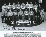 Dick Motta Washington Bullets with 77-78 NBA Champs Inscription Photo