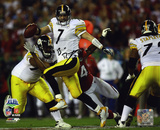 Ben Roethlisberger SB PittsburgSteelers SB XLIII Scramble Autographed Photo (H& Signed Collectable) Photo