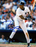 Darryl Strawberry NY Yankees Pinstripes Batting Photo
