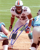 Channing Crowder Miami Dolphins Autographed Photo (Hand Signed Collectable) Photo