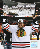 Jordan Hendry Chicago Blackhawks -Holding the Stanley Cup Autographed Photo (H& Signed Collectable) Photo