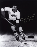 "Ted Lindsay Detroit Red Wings with ""H.H.O.F. 66""  Autographed Photo (Hand Signed Collectable) Photo"