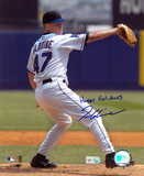Tom Glavine New York Mets with Happy Holidays  Autographed Photo (Hand Signed Collectable) Photo