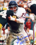 Stan Jones Chicago Bears - Action with HOF 91 Inscription Photo