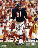 Dick Butkus Chicago Bears  Ready to Tackle with HOF 79  Autographed Photo (Hand Signed Collectable) Photo