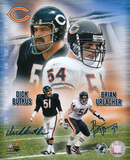 Dick Butkus & Brian Urlacher Chicago Bears -Collage -Dual Autographed Photo (H& Signed Collectable) Photo