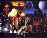 Ray Park Star Wars Collage Autographed Movie Photo (Hand Signed Collectable) Photo