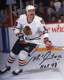 "Michel Goulet Chicago Blackhawks with ""HOF 89""  Autographed Photo (Hand Signed Collectable) Photo"