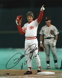 Pete Rose Cincinnati Reds - 4192 Hit with Hit King Inscription Photo
