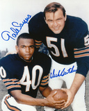 Dick Butkus and Gale Sayers Chicago Bears Autographed Photo (Hand Signed Collectable) Photo