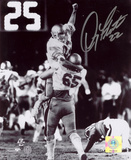 Doug Flutie Boston College Eagles 1984 Hail Mary Celebration Black and White Photo