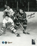 Bill Gadsby Chicago Blackhawks with HOF &#39;70 Inscription Photo