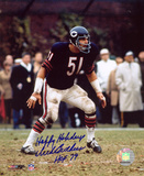 Dick Butkus Chicago Bears with Happy Holidays and HOF 79 Inscriptions Photo