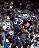 Shaun Alexander Seattle Seahawks vs. Panthers Autographed Photo (Hand Signed Collectable) Photo