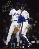 "Dwight ""Doc"" Gooden NY Mets with Gary Carter with 86 Autographed Photo (Hand Signed Collectable) Photo"