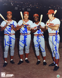 Pete Rose, Johnny Bench, Joe Morgan and Tony Perez Cincinnati Reds Big Red Machine Photo