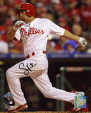 Shane Victorino Philadelphia Phillies 2008 WS Champions Autographed Photo (Hand Signed Collectable) Photo