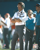 Dan Reeves Denver Broncos with 3x AFC Champs Inscription Photo