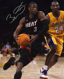 Dwyane Wade Miami Heat, vs. Kobe Bryant Autographed Photo (Hand Signed Collectable) Photo