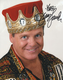 Jerry Lawler with The King Inscription Autographed Photo (Hand Signed Collectable) Photo