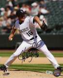 Huston Street Colorado Rockies Autographed Photo (Hand Signed Collectable) Photo