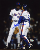 Dwight &quot;Doc&quot; Gooden New York Mets - with Gary Carter Photo