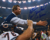 Steve McMichael Chicago Bears -Holding Ditka- with ''76 Bears'' Inscription Photo