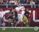 Eli Manning New York Giants - SB XLII with SB XLII MVP Inscription Photo