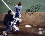 Mike Schmidt Philadelphia Phillies with 1980 World Series MVP Inscription Photo