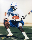 Edgerrin James Indianapolis Colts - Practice Autographed Photo (Hand Signed Collectable) Photo