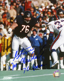 Steve McMichael Chicago Bears Action Autographed Photo (Hand Signed Collectable) Photo