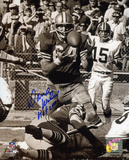 Dave Wilcox San Francisco 49ers with HOF 2000 Inscription Photo