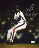 """Dwight """"Doc"""" Gooden NY Mets Pitching with 86 WS Champs Autographed Photo (Hand Signed Collectable) Photo"""