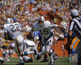 Earl Morrall Miami Dolphins - Handoff with 17-0 Inscription Photo