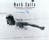 Mark Spitz Olympian with 7 Gold Medal Text Autographed Photo (Hand Signed Collectable) Photographie