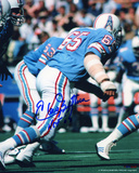 Elvin Bethea Houston Oilers - Action with HOF 03 Inscription Photo